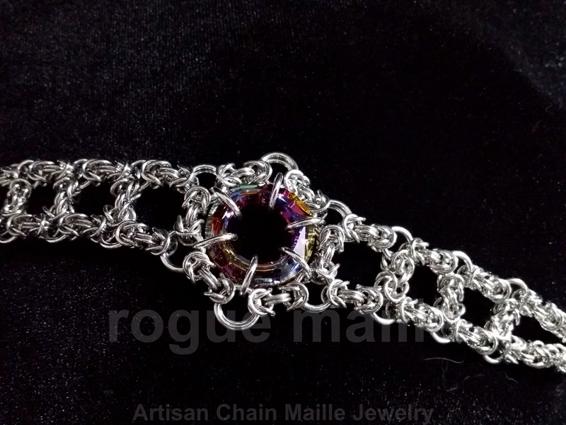 Byzantine Outline with Swarovski Cosmic Ring Bracelet