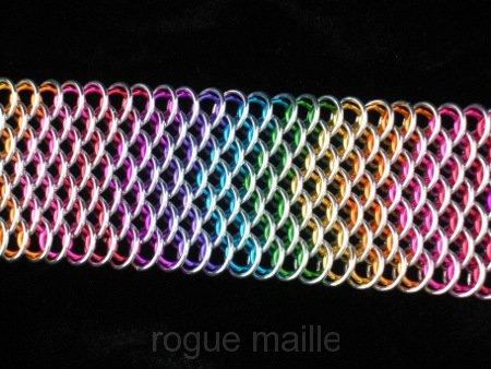 090-Rainbow Dragonscale Bracelet