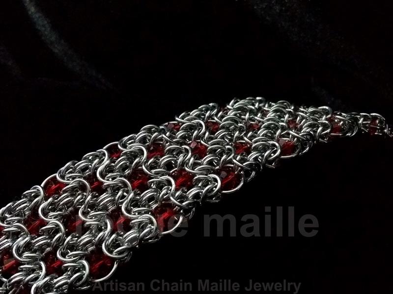 150-Swarovski Broken Byzantine Bracelet