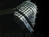 160 - Silver and Black Spiked Pauldron