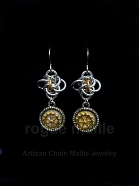 016-Mini Gear Earrings