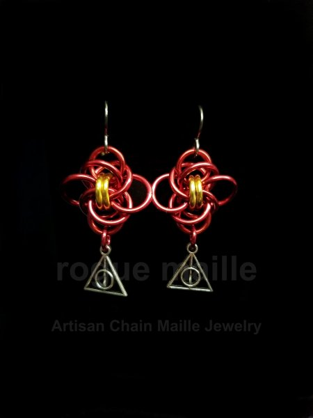 0181-Gryffindor Earrings