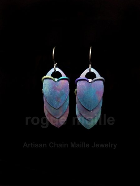 Titanium Watercolor Scale Earrings
