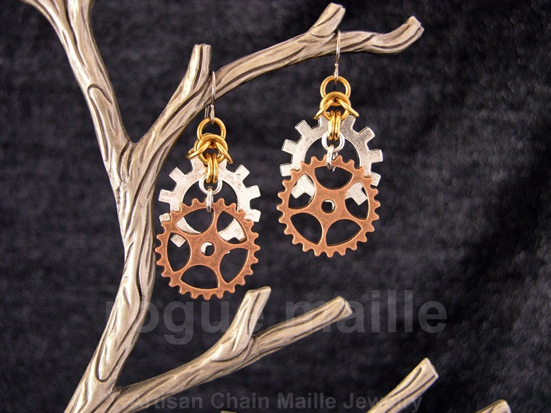 Stacked Gears Earrings