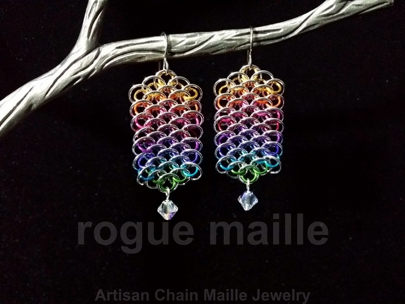 Rainbow Dragonscale Earrings