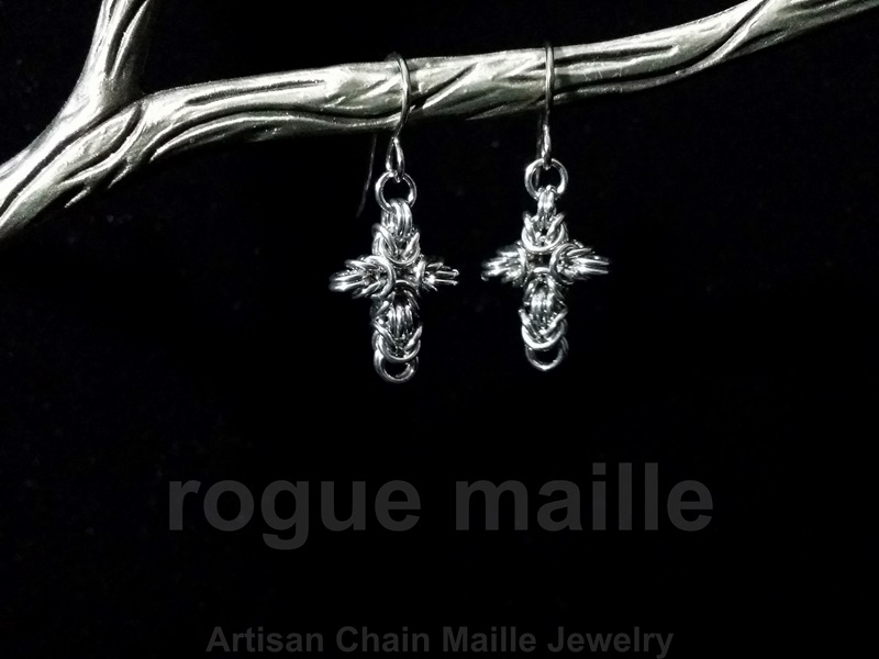 024-Small Cross Earrings