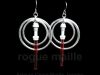 020-Red Light Saber Earrings