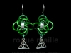 0181-Slytherin Earrings