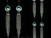 030-Stainless Steel and Titanium Fringe Earrings
