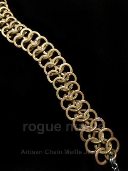 Riveted Brass Bracelet