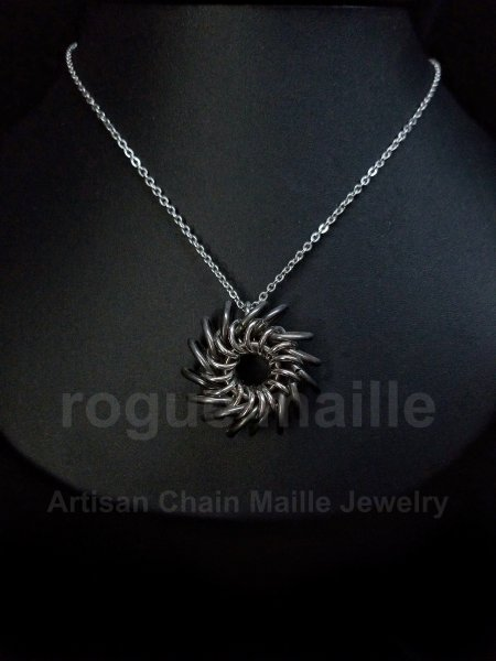 5040-Stainless Steel Whirly Bird Pendant