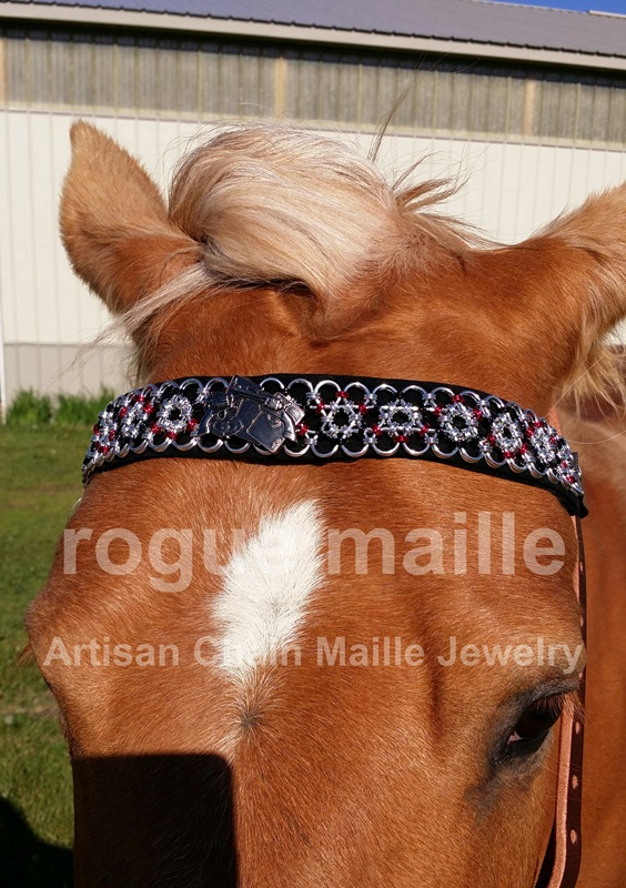 Japenese Lace Browband with Concho