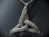 035-Triquetra Sculpture Pendant