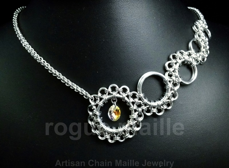 Asymmetrical Scrollwork Necklace