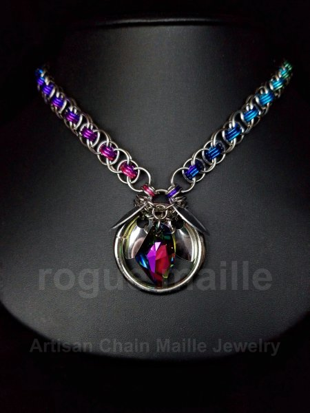 Rainbow Galactic Petals Necklace