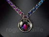 110-Rainbow Galactic Petals Necklace