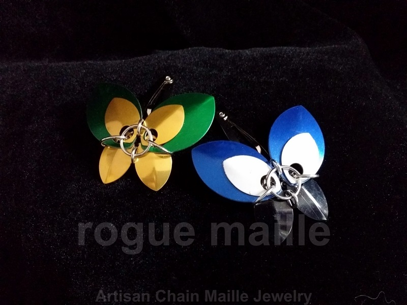 006-Scale Butterfly Barrette