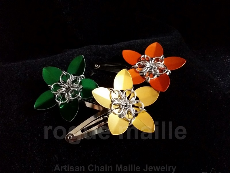 Small Scale Flower Barrette