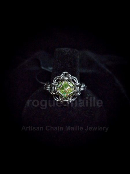 038-Luminous Green Rivoli Ring