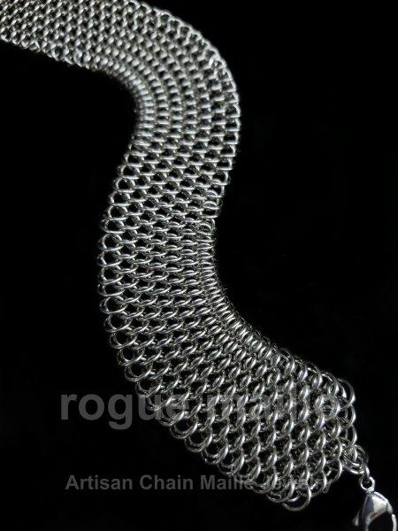 170-Stainless Steel Fine Dragonscale Bracelet