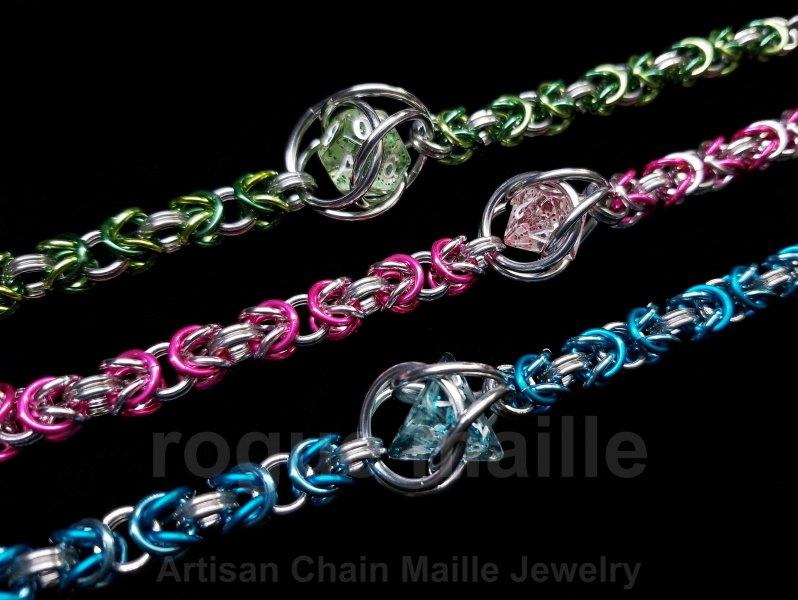 0251-Glitter Mini Dice Bracelet