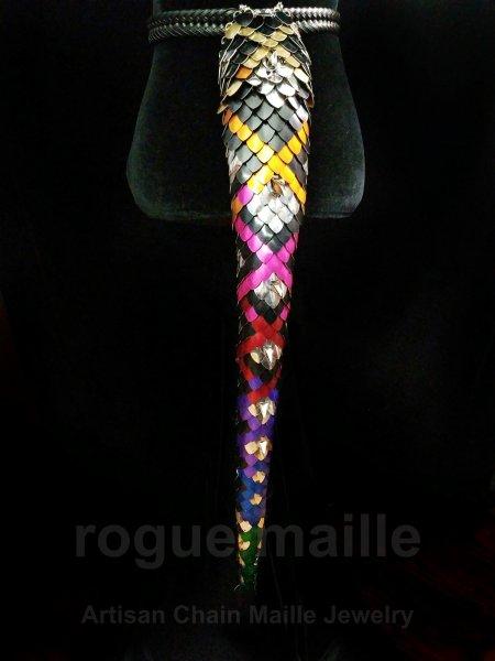 5451 - Rainbow Dragon Hide Long Tail