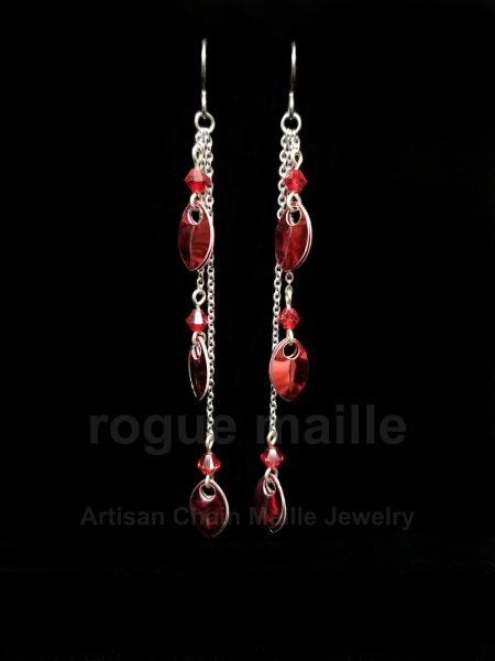 022-Tiny Scale Dangle Earrings