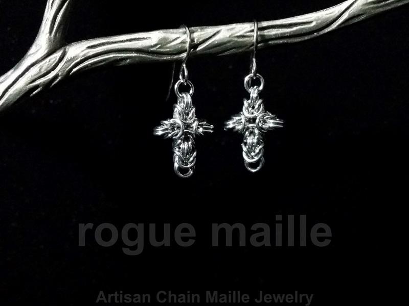 024-Small Cross Earrings