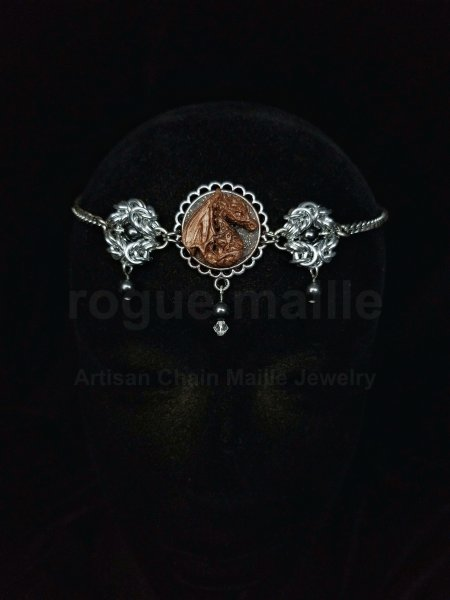 035-Small Bronze Dragon Headdress