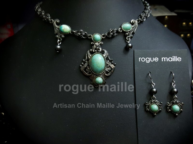 038-Vintage Turquoise Necklace