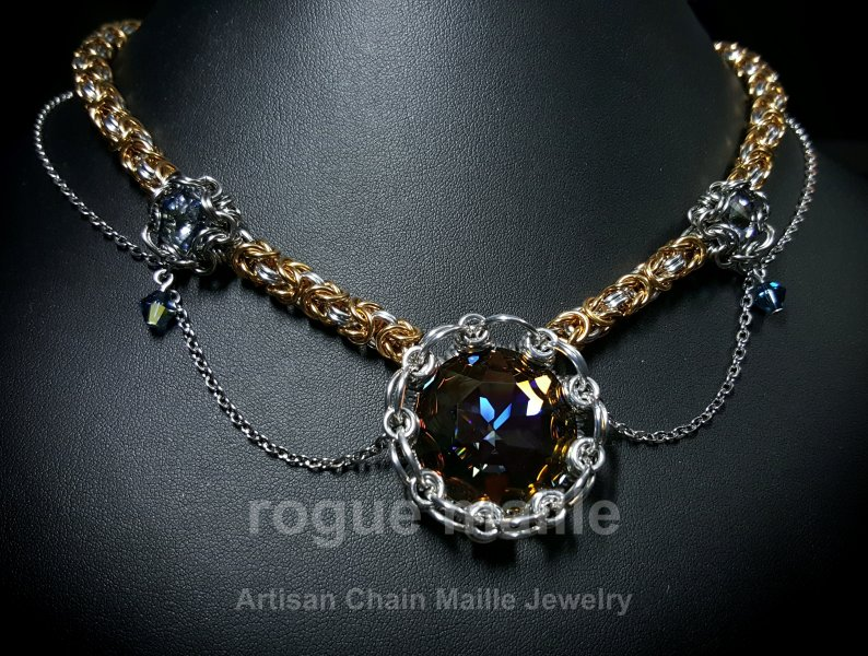 036-Victorian Star Necklace