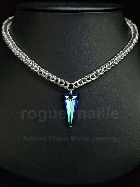 075-Swarovski Spike Necklace