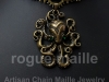 050-Ribbon Maille Octopus Choker