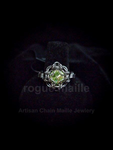 038-Luminous Green Rivoli Ring