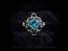 038-Light Turquoise Rivoli Ring